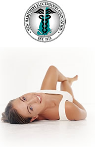 New Hampshire Electrolysis Association Logo, Woman with no unwanted body hair
